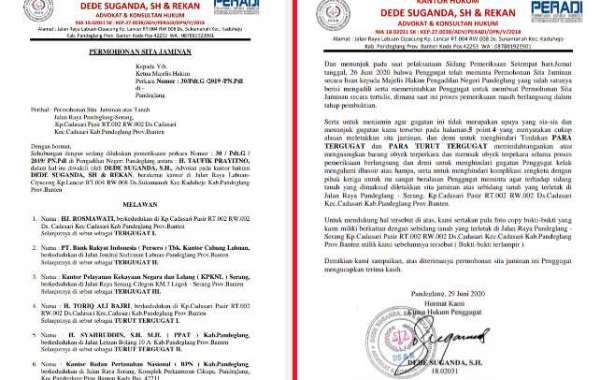 Perkara Perdata No 30/Pdt.G /2019 /PN.Pdl, Penggugat Ajukan Sita Jaminan