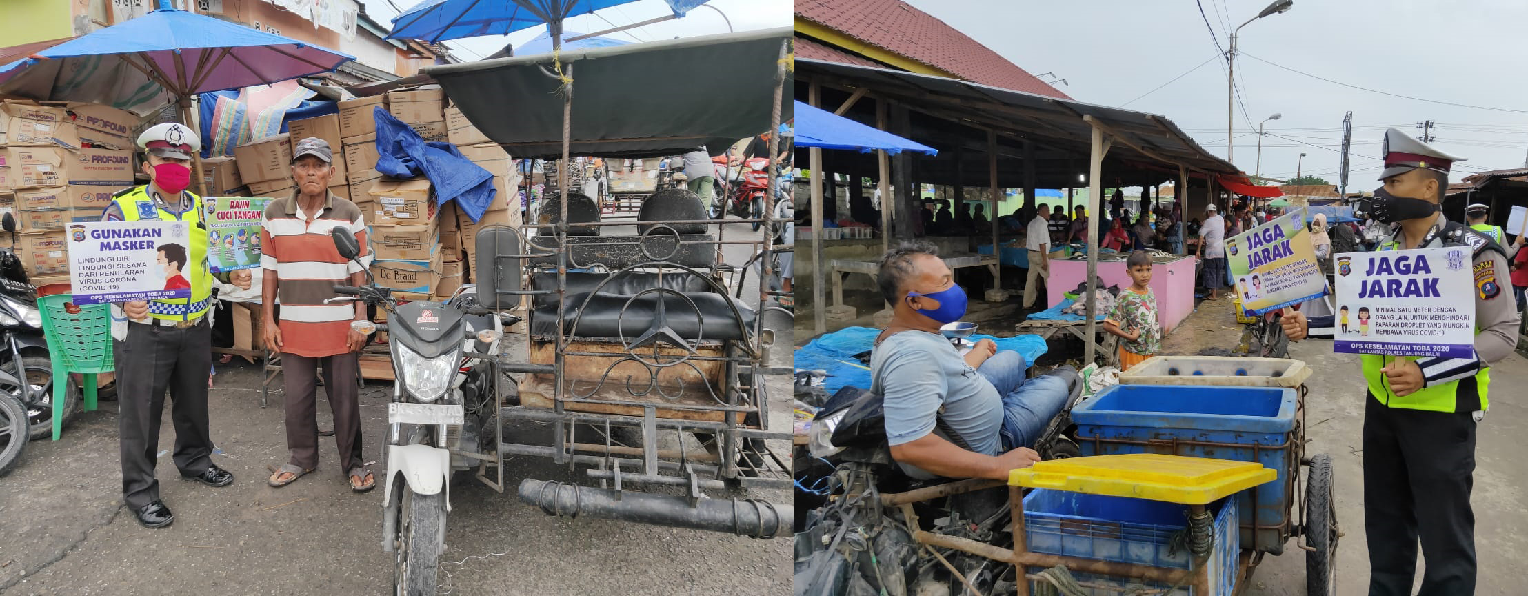 New Normal, Sat Lantas Polres Tanjung Balai Giat Memberikan Himbauan Kepada Masyarakat   Berita Merdeka Online