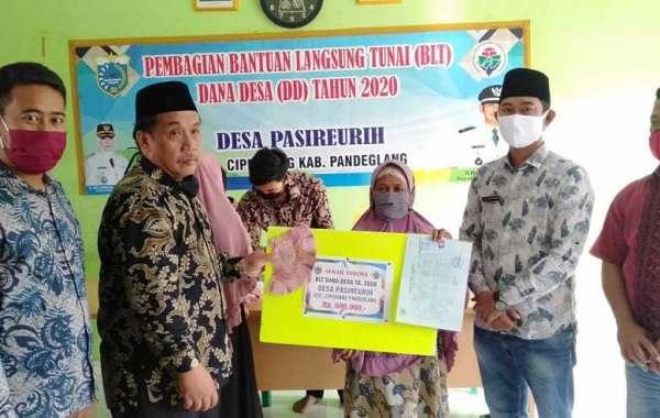 Camat Cipeucang, Dedi Taftajani Himbau KPM Gunakan Dana BLT Sesuai Kebutuhan Pokok