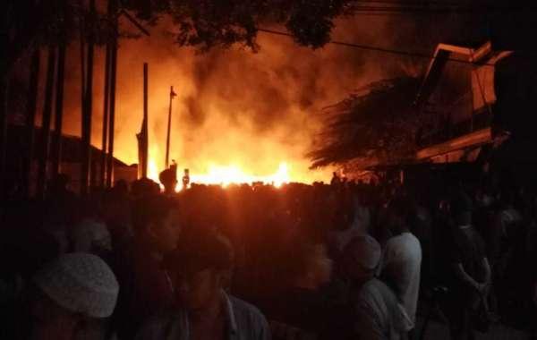 Pasca Kejadian Kebakaran, Polsek Sukaraja Lakukan Olah TKP dan Pemeriksaan Saksi - Saksi