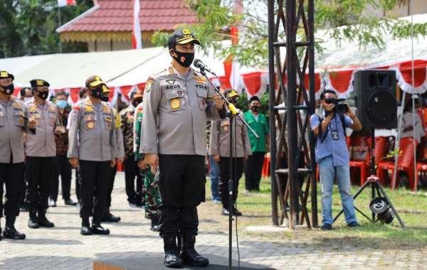 Kabaharkam Polri Pimpin Apel Kesiapsiagaan Satgas Relawan Karhutla Dan Covid-19 Provinsi Riau