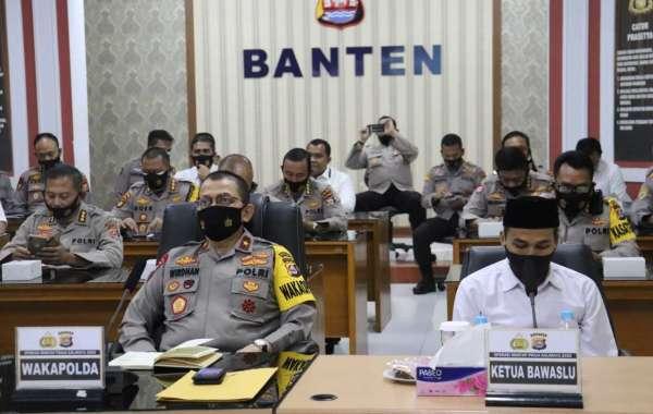 Kapolda Banten Hadiri Video Confrence Dalam Rangka Kesiapan Jajaran Dalam Penyelenggaraan Pilkada Tahun 202