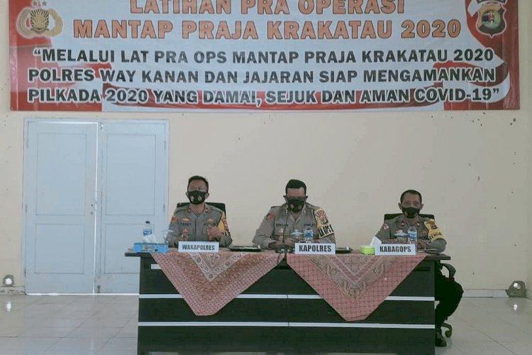Polres Way Kanan Siap Mengamankan Pilkada Tahun 2020 di Way Kanan - INDONESIA SATU