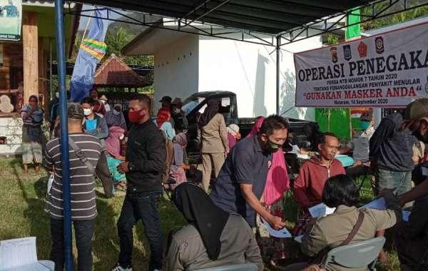 Penetapan Protokol Kesehatan, Polres Lombok Barat Sukseskan Lomba Kampung Sehat