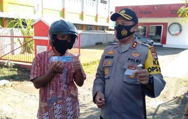 Polres Sumbawa Barat Launching Lomba Yustisi Sehat Disiplinkan Masyarakat Terapkan Protokol Kesehatan