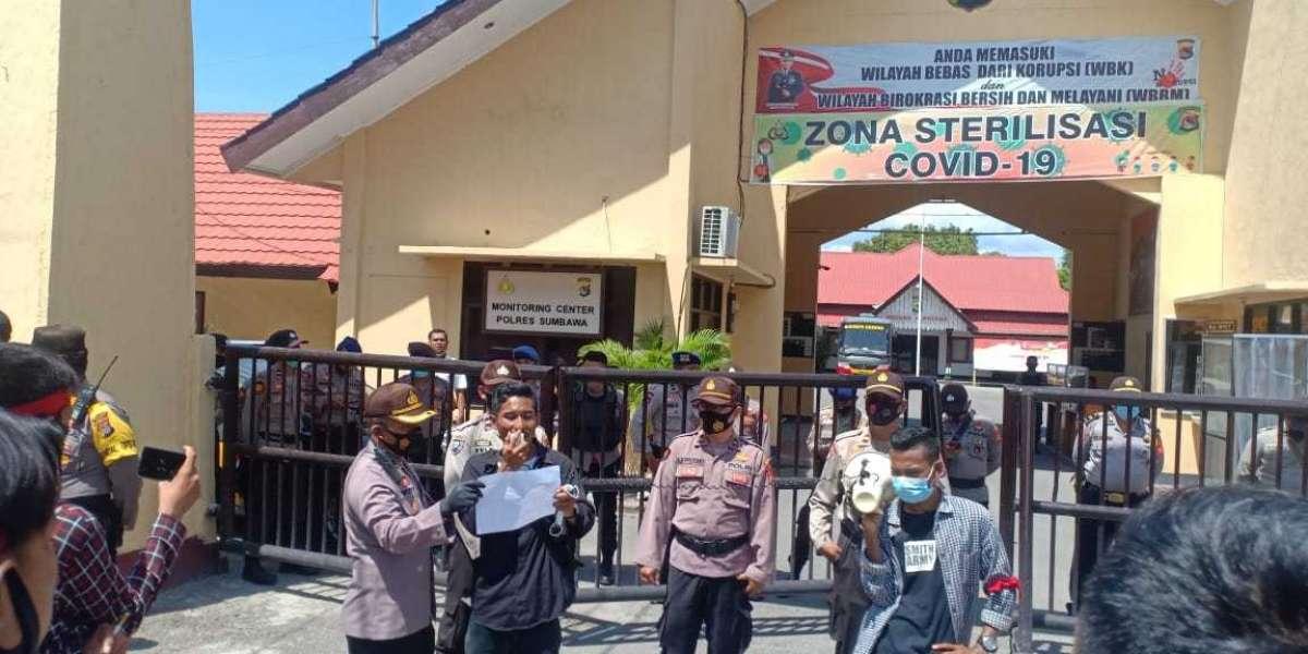Aksi Unjuk Rasa, Kapolres Sumbawa Polda NTB Himbau Personel Tak Ada Tindakan Represif