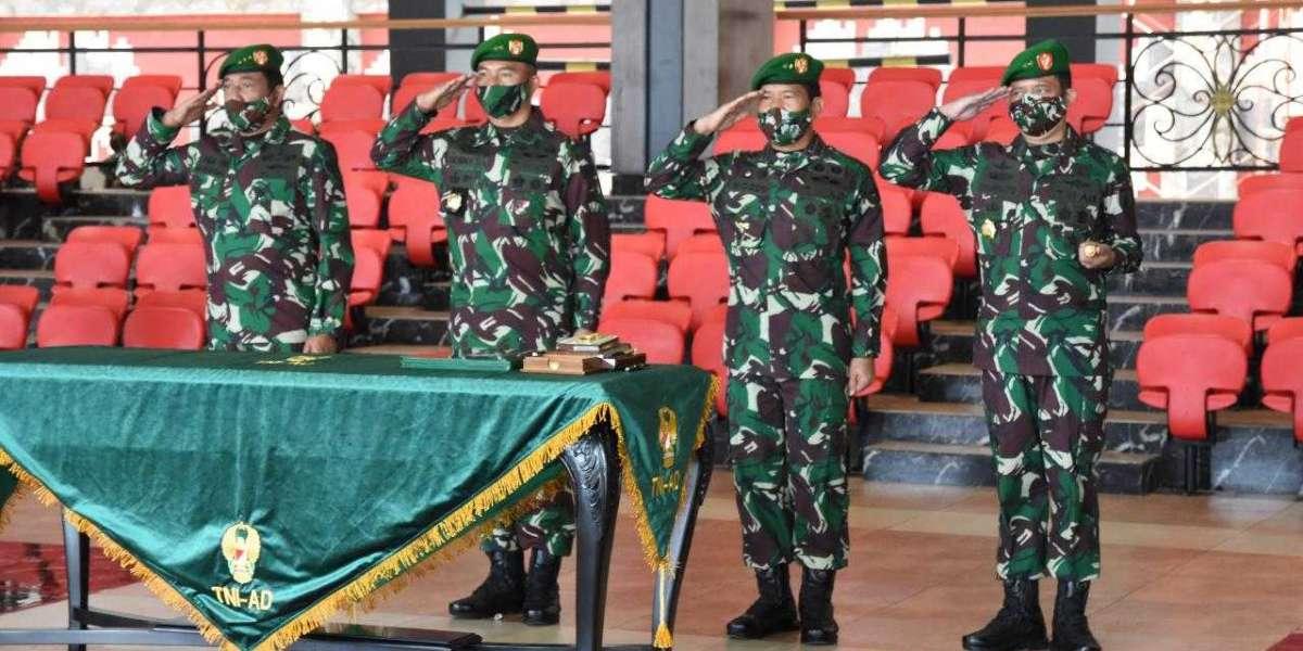 Kasad Jenderal Andika Perkasa Pimpin Sertijab Irjenad dan Pangdam V/Brawijaya