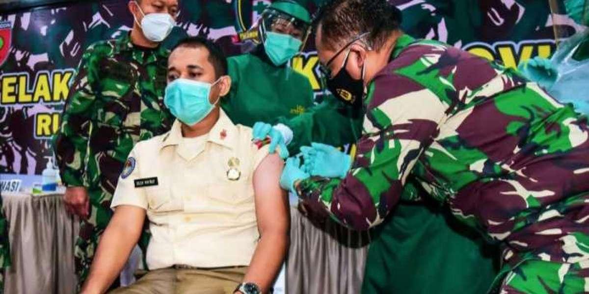 Kodam Hasanuddin Gelar Vaksin di RS Pelamonia, diikuti Personel TNI, Nakes dan Masyarakat