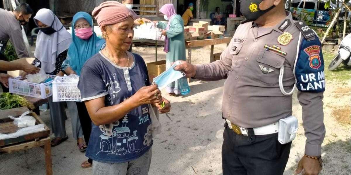 Dimasa Pandemi Covid-19, Progam Kedai Murah Polantas Sergai Digalakan Hingga ke Pelosok Desa