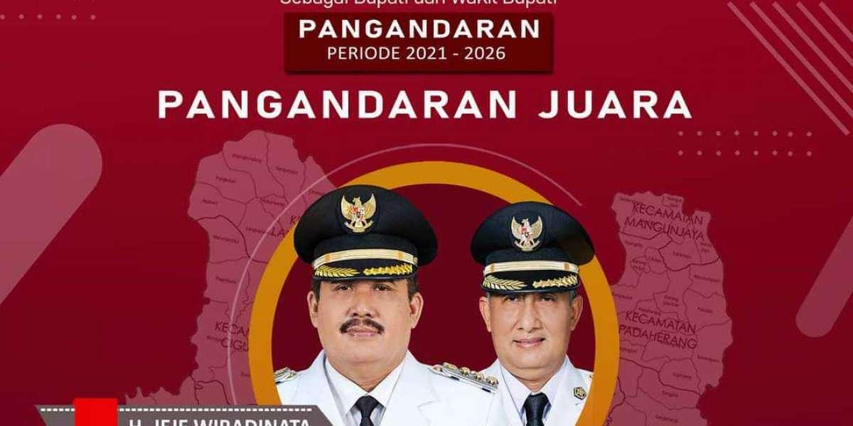 Jeje Wiradinata dan Ujang Endin Indrawan Resmi Dilantik sebagai Bupati Pangandaran