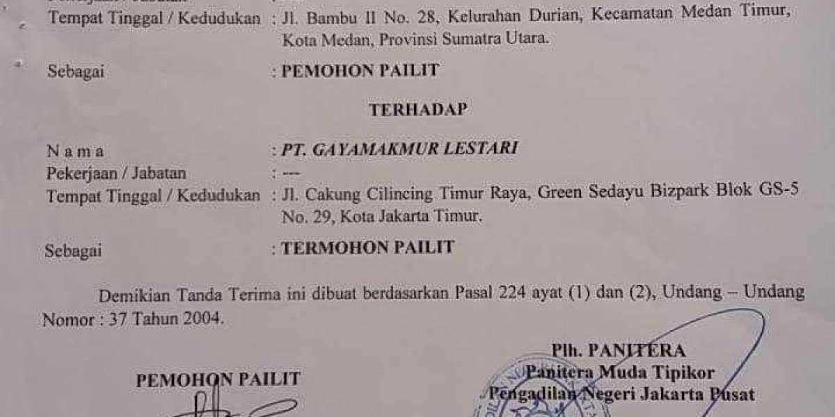 CV.Mida Mas Gugat Pailit PT.Gaya Makmur di Pengadilan Niaga jakarta Pusat