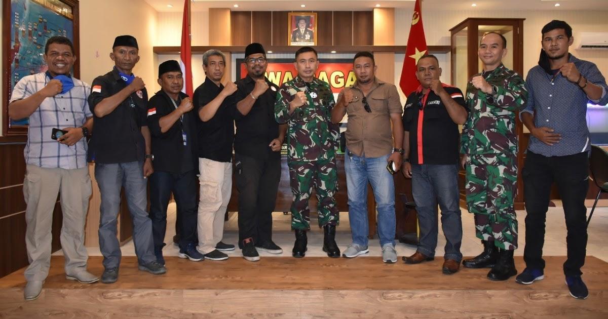 Kunjungan Kerja FPII Setwil Malut ke Korem 152 Babullah Disambut Baik