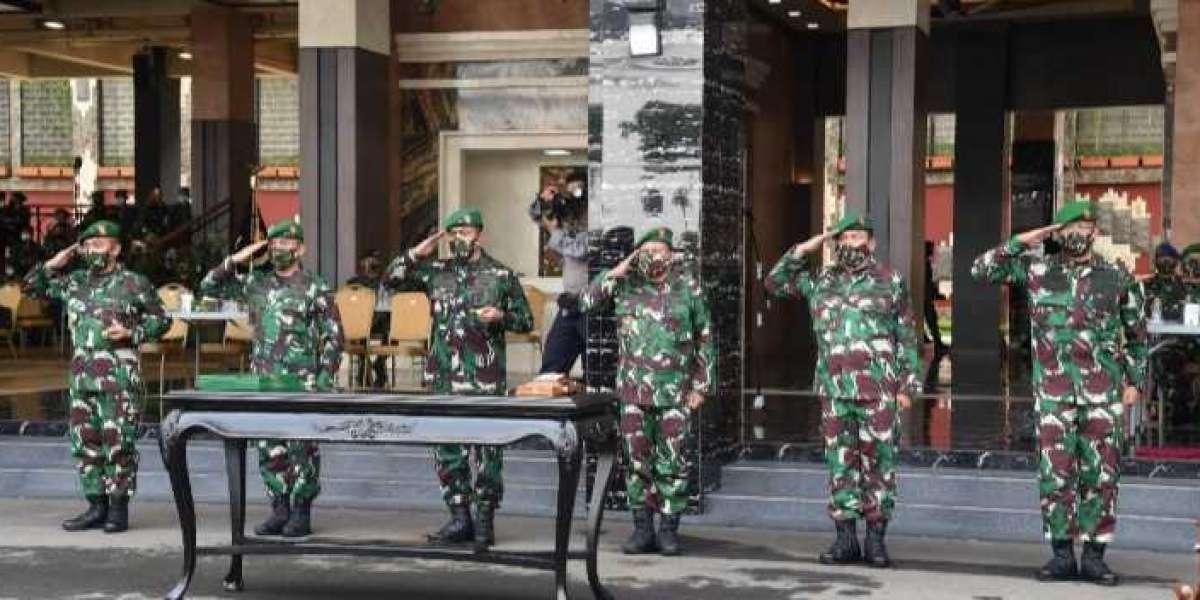 Kasad Pimpin Sertijab Dua Pangdam Serta Kadislitbangad dan Penyerahan Jabatan Wakasad