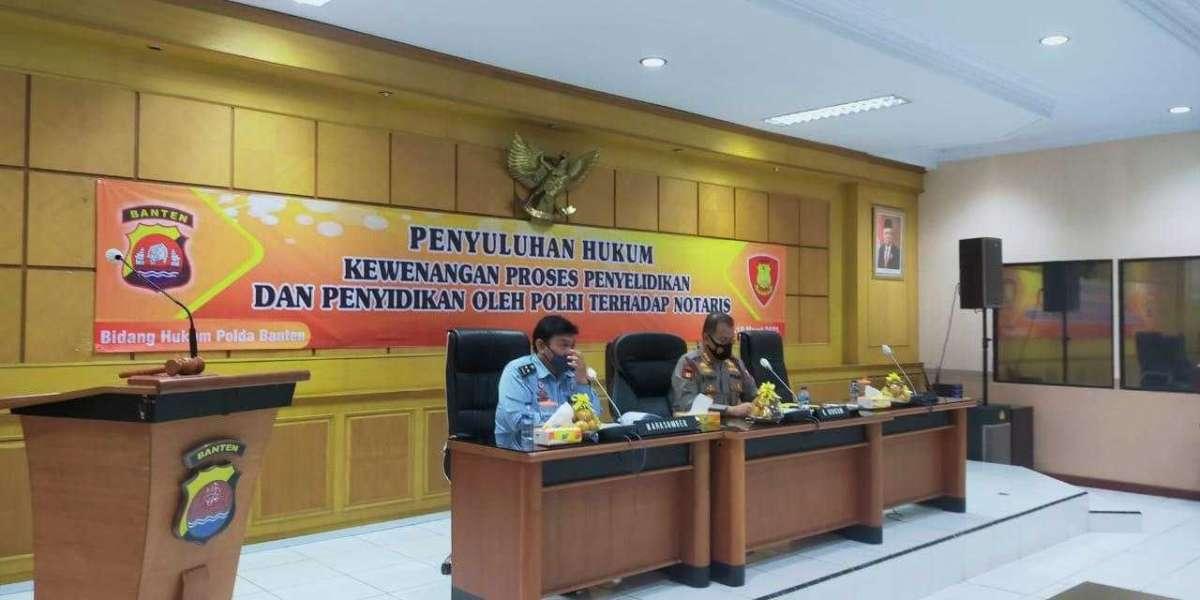 Bidkum Polda Banten, Gelar Penyuluhan Hukum Tentang Proses Lidik Sidik Terhadap Notaris