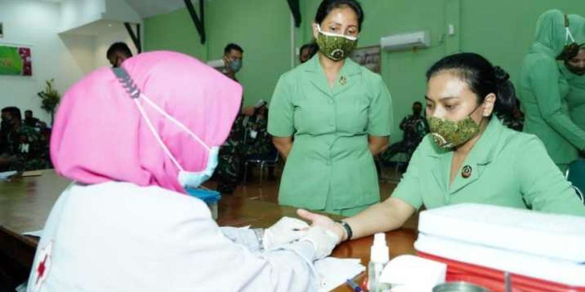 Bekerjasama dengan PMI Kota Makassar, Pomdam Hasanuddin Gelar Donor Darah