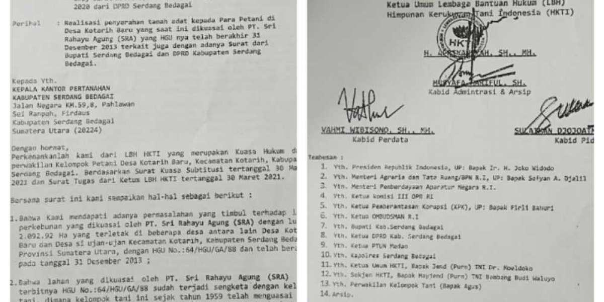 PT Sri Rahayu Agung:HGU Mati LBH HKT Surati Dinas Terkait Sumut