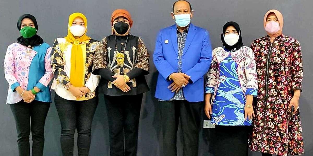 Ketua Harian Wanita Pujakesuma Elrita Audensi Dengan  Syah Afandin Wakil Bupati Langkat