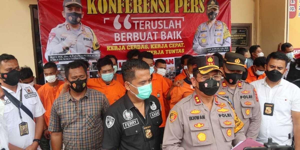 Pelaku Begal Sadis Merangkak Setelah Dilumpuhkan Tim Anti Bandit Sat Reskrim Polres Batu Bara